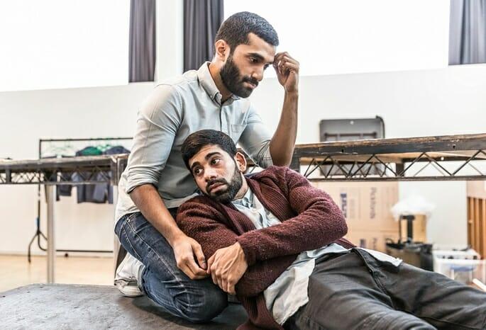 Danny Ashok and Darren Kuppan rehearsing Guards at the Taj at the Bush Theatre. Credit Marc Brenner.jpg