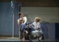 Andrew Garfield (Prior) and Amanda Lawrence (Emily) in Angels in America