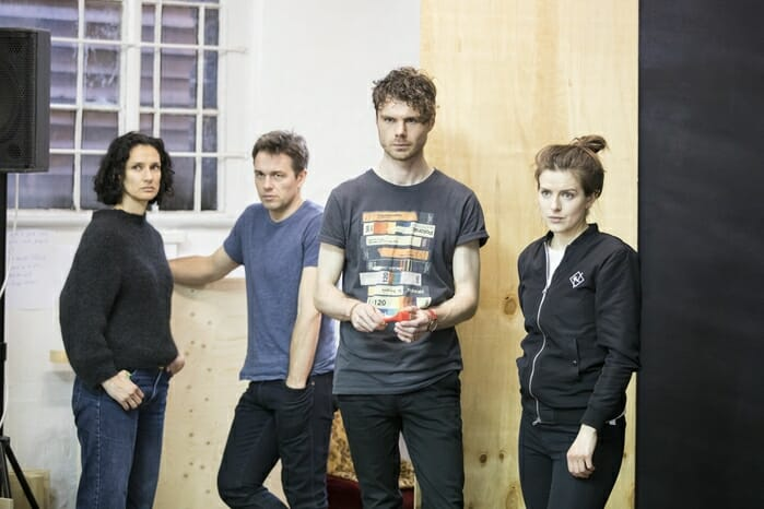 Indira Varma, Julian Ovenden, Matthew Needham and Aisling Loftus_credit Johan Persson