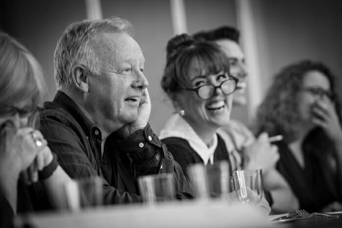 Les Dennis and Charlotte Page in Addams Family rehearsals_credit Craig Sugden (2)