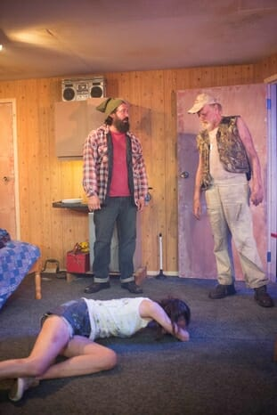 Out Theatre On Fried Meat Ridge Rd. - Keith Stevenson, Michael Wade and Melanie Gray,Trafalgar Studios