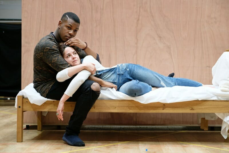 Sarah Greene (Marie) and John Boyega (Woyzeck). Woyzeck at The Old Vic, photo by Manuel Harlan (2)