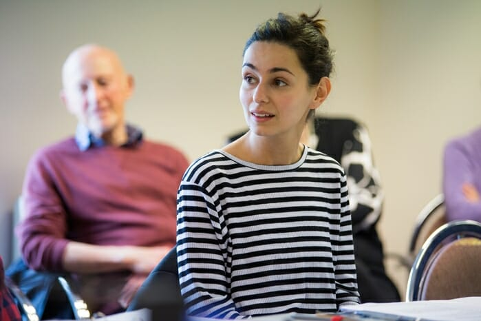 8 Serena Manteghi at the readthrough for Little Voice