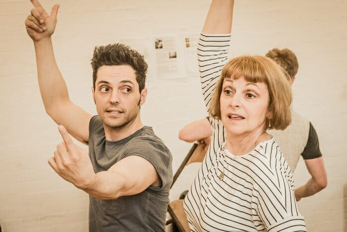 rehearsals for Working at Southwark Playhouse