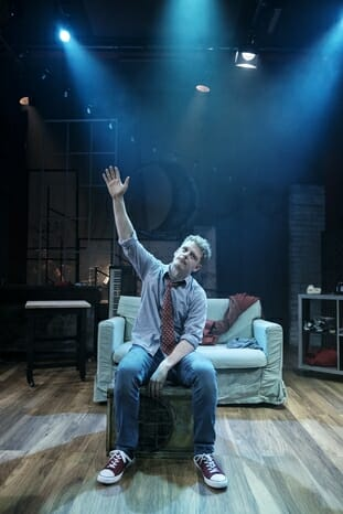 Chris Jenkins in tick, tick… BOOM! at Park Theatre. Photo by Claire Bilyard 4346