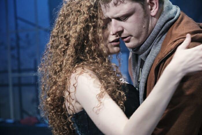 Gillian Saker & Chris Jenkins (l-r) in tick, tick… BOOM! at Park Theatre. Photo by Claire Bilyard 4240