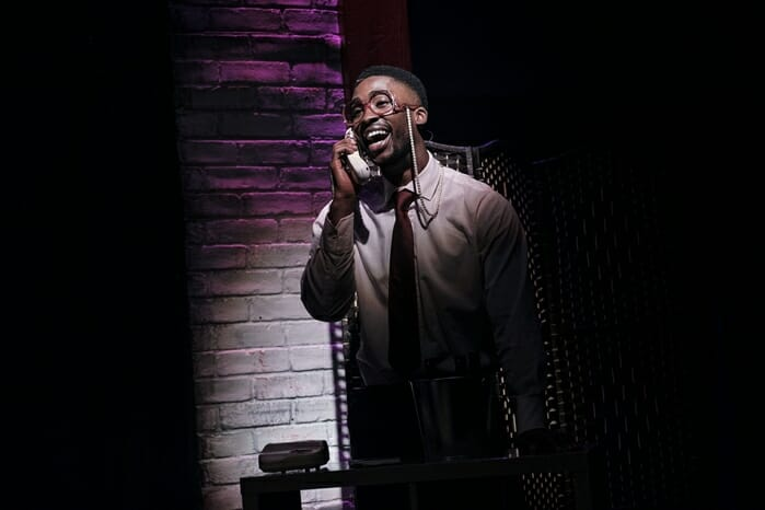 Jordan Shaw in tick, tick… BOOM! at Park Theatre. Photo by Claire Bilyard 4431