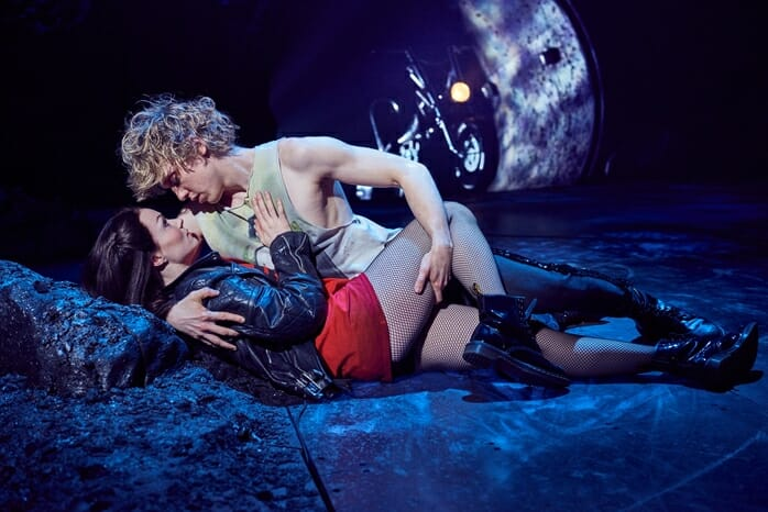 Andrew Polec as Strat & Christina Bennington as Raven in BAT OUT OF HELL credit Specular (2)
