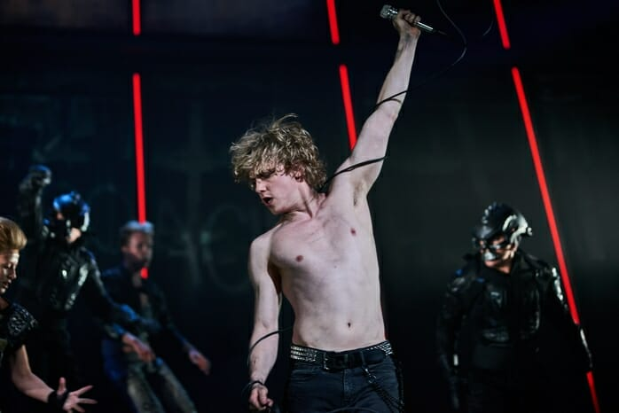Andrew Polec as Strat in BAT OUT OF HELL credit Specular