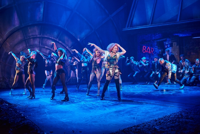Danielle Steers as Zahara (front centre) with the cast of BAT OUT OF HELL credit Specular