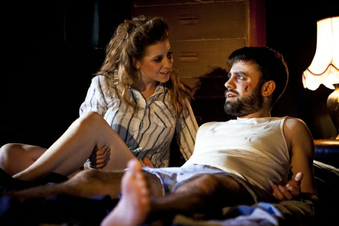 Danny and the Deep Blue Sea at Old Red Lion. Gareth O'Connor (Danny) and Megan Lloyd-Jones (Roberta) Photo credit Ben Bardsley-Ball (3)