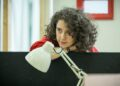 Ellie Kendrick in Gloria at Hampstead Theatre, photo by Marc Brenner