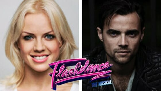 Joanne Clifton and Ben Adams in Flashdance - The Musical