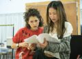 Kae Alexander and Ellie Kendrick in Gloria at Hampstead Theatre, photo by Marc Brenner (2)