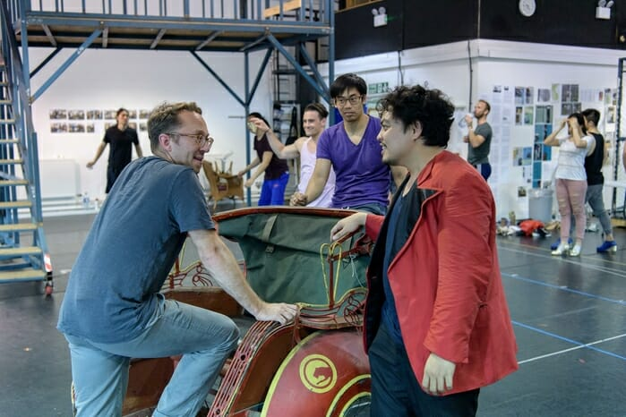 MISS SAIGON. Jean-Pierre Van Der Spuy (Tour Director), Red Concepcion 'The Engineer' and Company. Photo by Manuel Harlan