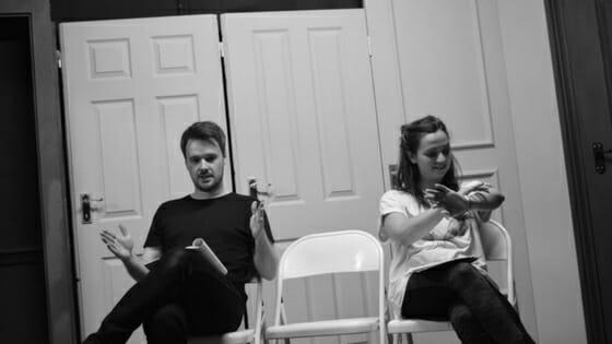 Ciaran Lonsdale and Niamh Watson in Rehearsal for Sheep (c) Georgia Harris (1)