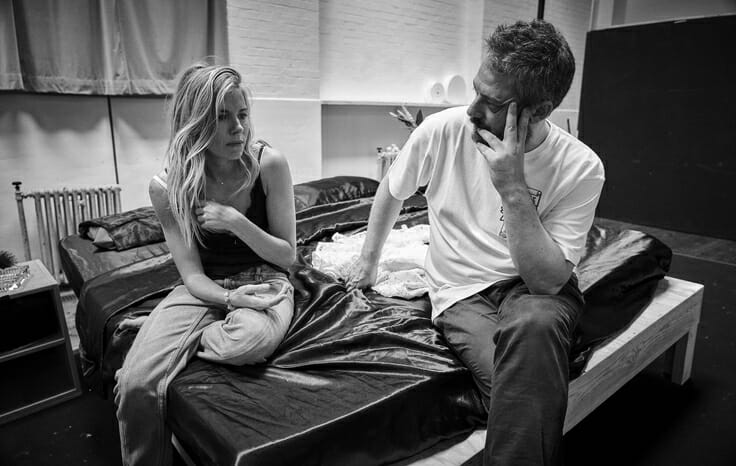 Sienna Miller and Benedict Andrews in rehearsal for Cat on a Hot Tin Roof. Photo by Charlie Gray.jpg (2)