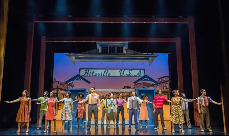 The cast of Motown the Musical - Photo credit Tristram Kenton