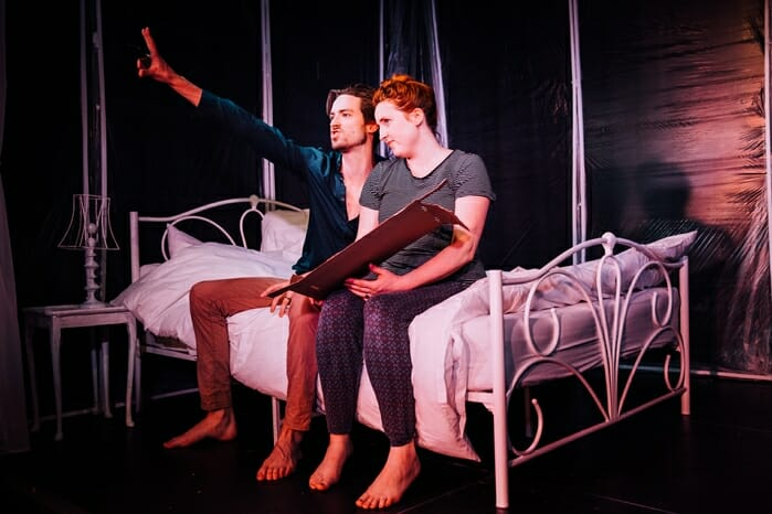Window Bread and Roses Theatre (l-r) Charles Warner, Idgie Beau - credit Greg Goodale 1