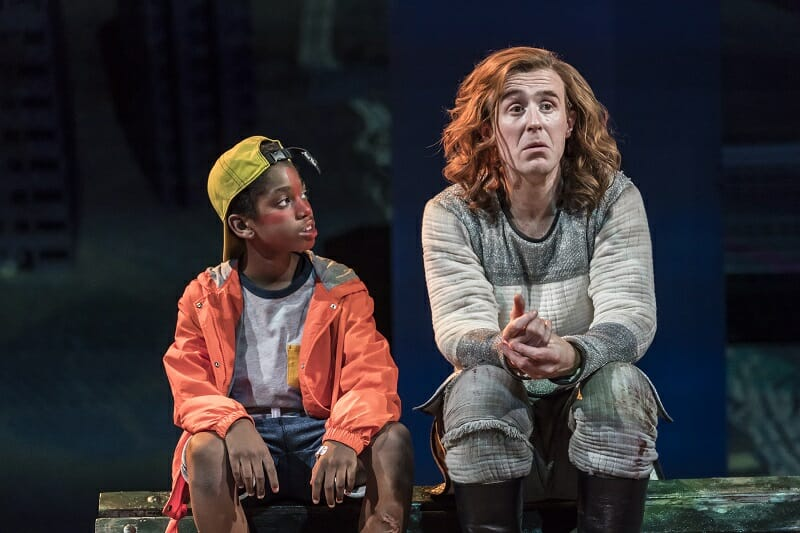 SAINT GEORGE AND THE DRAGON by Mullarkey, , Writer Rory Mullarkey, Director - Lyndsey Turner, Designer - Rae Smith, The National Theatre, 2017, rehearsal image, Credit: Johan Persson/