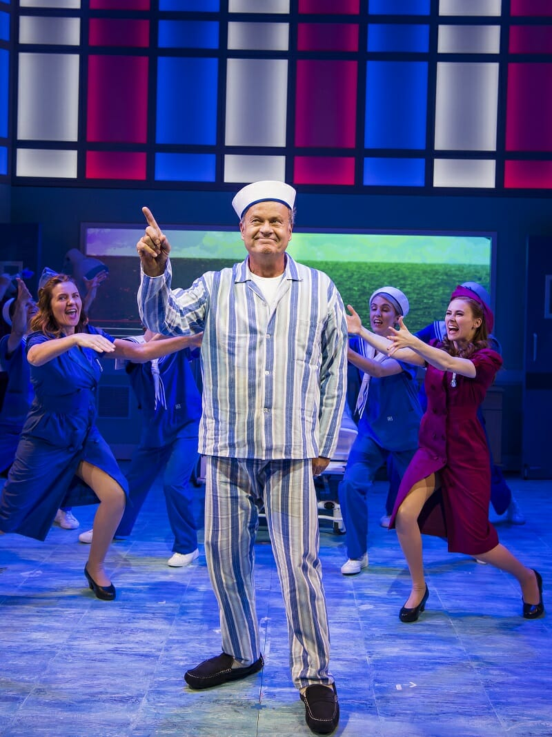 BIG FISH The Musical Review. Kelsey Grammer 'Edward Bloom' and Company. Photo Tristram Kenton