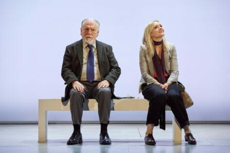 Heisenberg The Uncertainty Principle Wyndhams Theatre London Dannie-Marie Duff - Georgie Burns Kenneth Cranham - Alex Priest