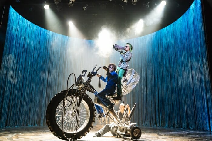 Caleb Frederick and Simon Paisley Day in Dr. Seuss's The Lorax at The Old Vic. Photos by Manuel Harlan