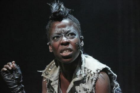 Debbie Korley as Beowulf, Beowulf at Unicorn Theatre. Photography by Graham Michael (2)