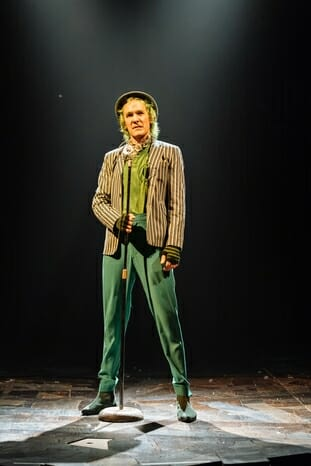 Simon Paisley Day (The Once-ler) in Dr. Seuss's The Lorax at The Old Vic. Photos by Manuel Harlan (1)