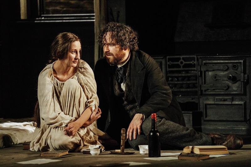 l-r Laura Elphinstone (Helene 'Nym' Demuth), Rory Kinnear (Karl Marx), photo by Manuel Harlan