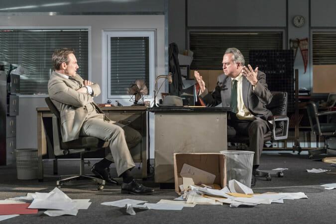 Christian Slater and Stanley Townsend Glengarry Glen Ross c. Marc Brenner