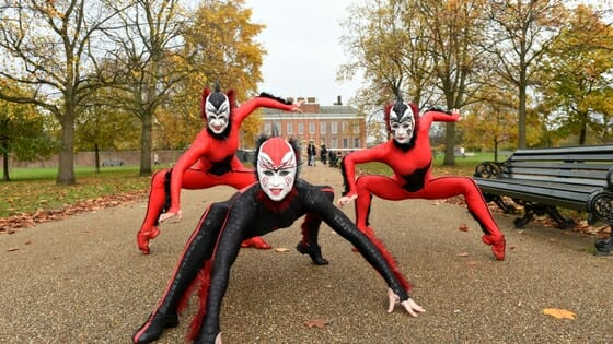 Cast of Cirque Du Soleil's OVO Take to The Streets of London
