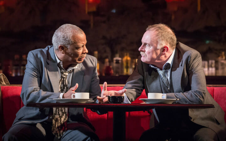 Don Warrington and Robert Glenister Glengarry Glen Ross c. Marc Brenner