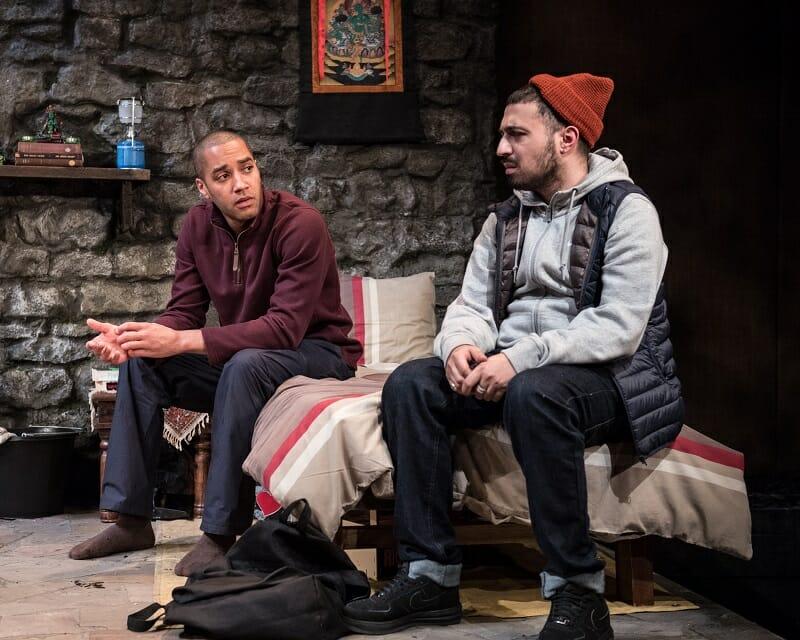 Samuel Anderson (Luke) and Adam Deacon (Tony) in THE RETREAT. Photo Credit Craig Sugden