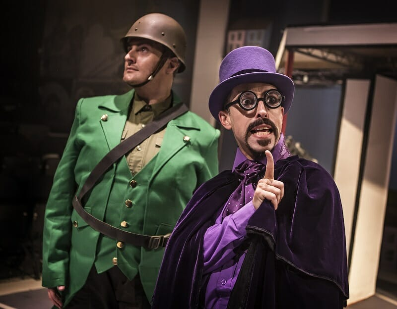 Bananaman The Musical 2 Carl Mulaney (General Blight) Marc Pickering (Dr Gloom) Photo by Pamela Raith
