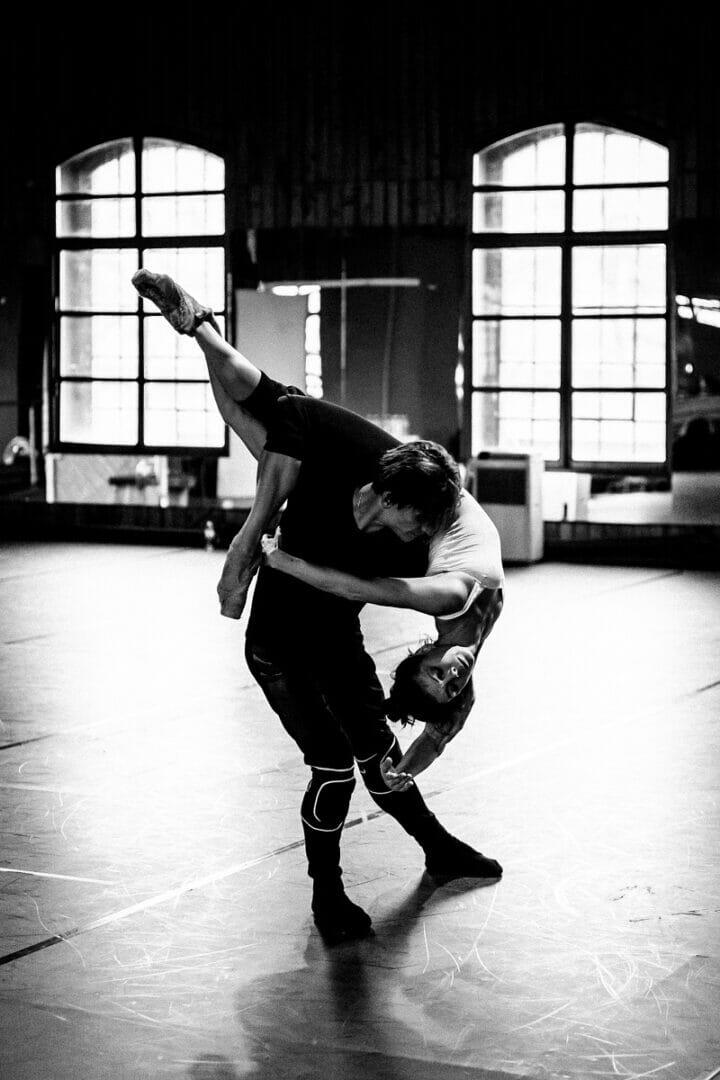 Sergei Polunin and Natalia Osipova in rehearsals for Satori, credit Srđan Srđenović (2)