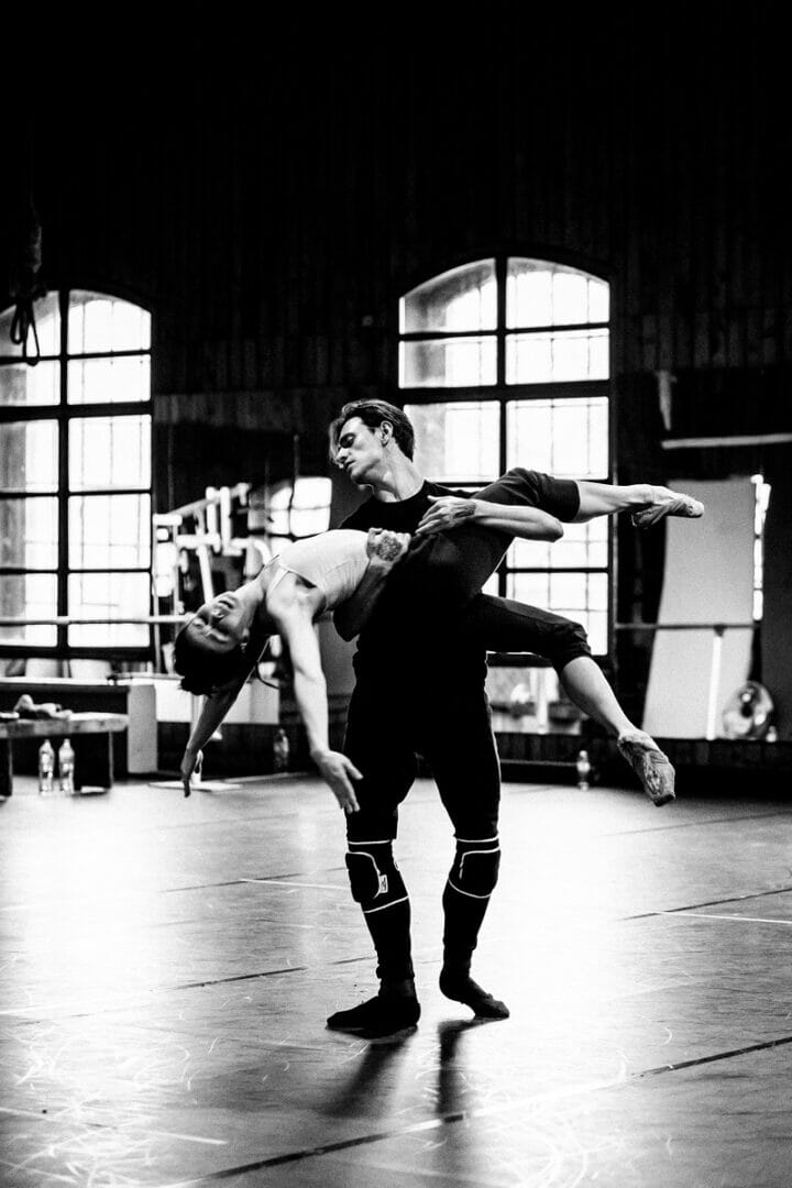 Sergei Polunin and Natalia Osipova in rehearsals for Satori, credit Srđan Srđenović (4)