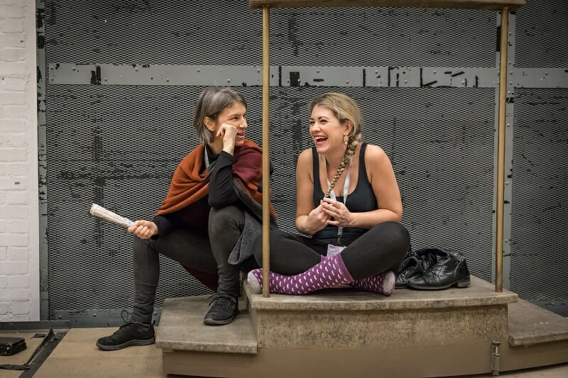 Wendy Dawn Thompson and Fleur de Bray in rehearsls for Amadeus at the National Theatre (c) Marc Brenner
