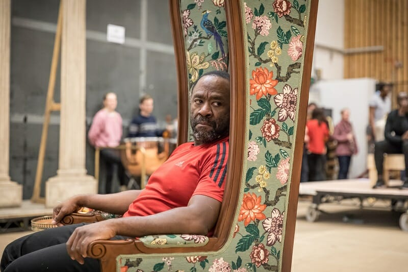 Lucian Msamati as Antonio Salieri in rehearsals for Amadeus at the National Theatre (c) Marc Brenner