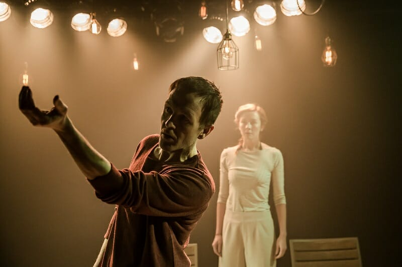 Niall Bishop and Eva-Jane Willis in Tiny Dynamite, by Richard Davenport