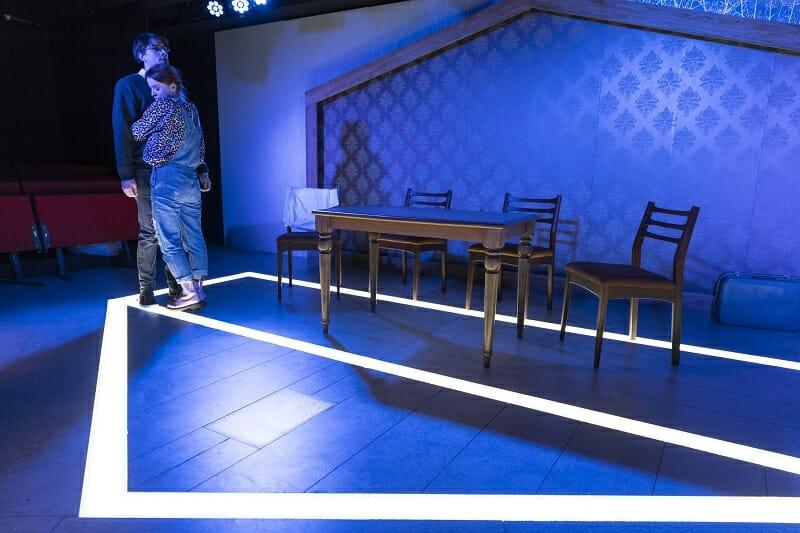 Production photos of AGAIN, written by Stephanie Jacob. Trafalgar Studio 2. Photo by Zute Lightfoot