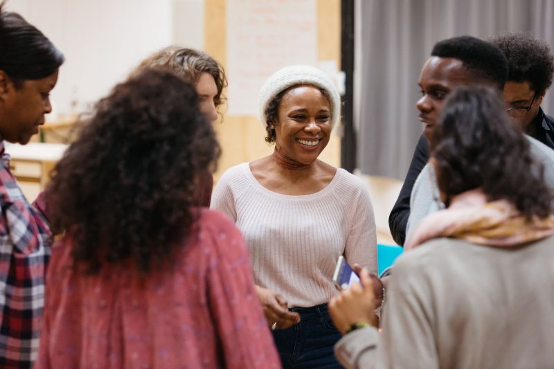 Cast in rehearsal for Nine Night at the National Theatre (c) Helen Murray-168