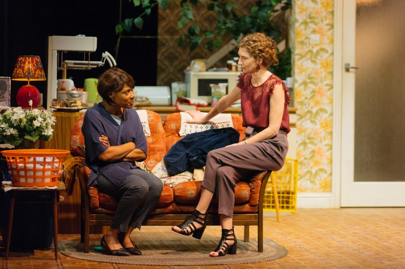 Franc Ashman as Lorraine and Hattie Ladbury as Sophie in Nine Night at the National Theatre (c) Helen Murray 573