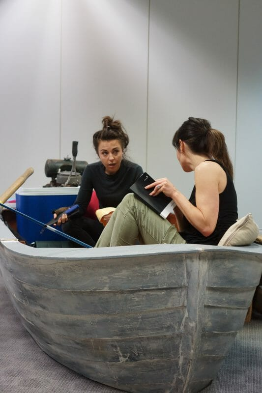 Louisa Lytton and Anna Acton in The Gulf rehearsals, credit of Rachael Cummings (7)