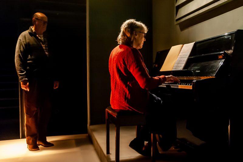 Not Talking at the Arcola Theatre. David Horovitch (James) and Kika Markham (Lucy) Photo by Lidia Crisafulli