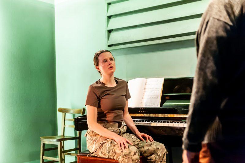 Not Talking at the Arcola Theatre. Gemma Lawrence (Amanda) Photo by Lidia Crisafulli (2)