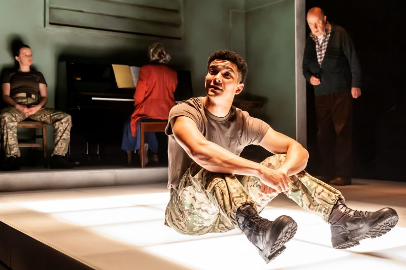 Not Talking at the Arcola Theatre. Laurence Walker (Mark) Photo by Lidia Crisafulli