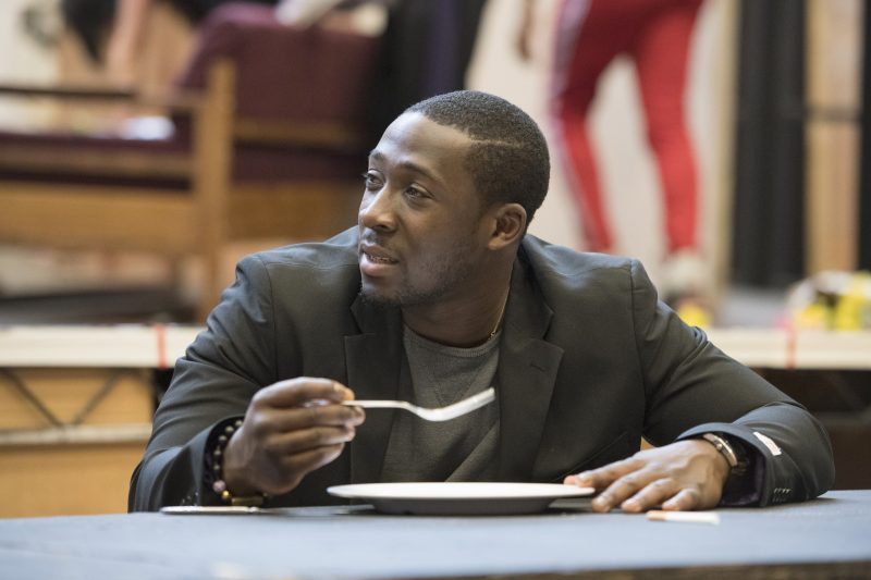 Eric Kofi Abrefa (Jean) in rehearsals for Julie at the National Theatre (c) Richard Hubert Smith