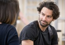 First Look Aidan Turner and the Cast of The Lieutenant of Inishmore in Rehearsals
