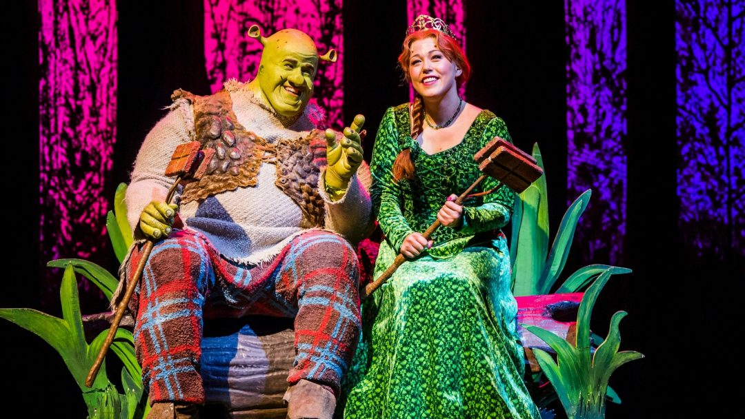 first look amelia lily as princess fiona in shrek the musical